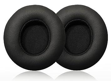 Almohadilla de Auriculares de Reemplazo Cojines de Oído Almohadilla para Beats Solo 2 Auriculares Inalámbricos y con Cable, 1 Pares, Negro: Amazon.es: ...