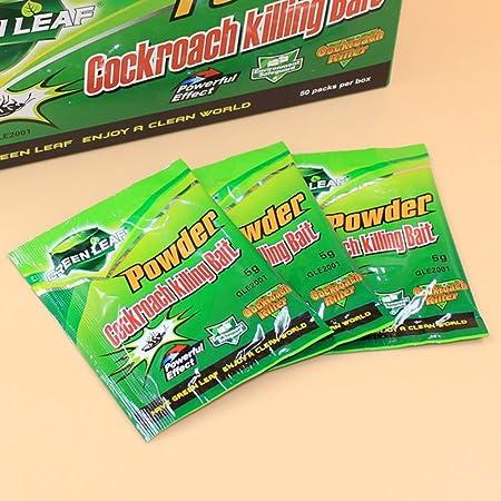 Image ofKicode Cucaracha Palmera Verde Medicina Inicio Matar a la Plaga Control de Errores sin daños No tóxico Inodoro Asesino de Captura de Polvo