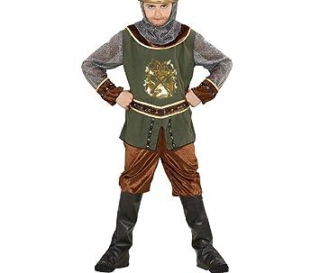 WIDMANN Disfraz de vikingo, casaca con pantalón, botas bedeckung y capucha