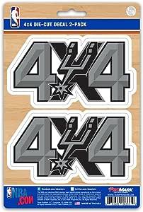 Team ProMark NBA San Antonio Spurs 2 Piece 4X4 Off Roader Decal Set