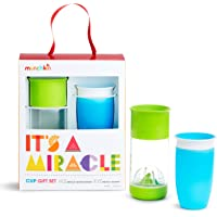 Munchkin It's a Miracle Gift Set, Includes 10oz Miracle Cup and 14oz Miracle Fruit Infuser, Blue/Green