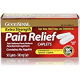 GoodSense Extra Strength Pain Relief, 500 mg Acetaminophen Caplets, 50 Count