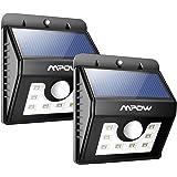 Mpow 8 LED Solar Leuchte Sicherheitsleuchte, Bewegungssensor-Solarlampe Wasserdicht mit 3 Intelligenten Modi Wandleuchte für Garten, Innenhöfe, Balkons, Einfahrt, Treppen, Außenwand - 2 Stück
