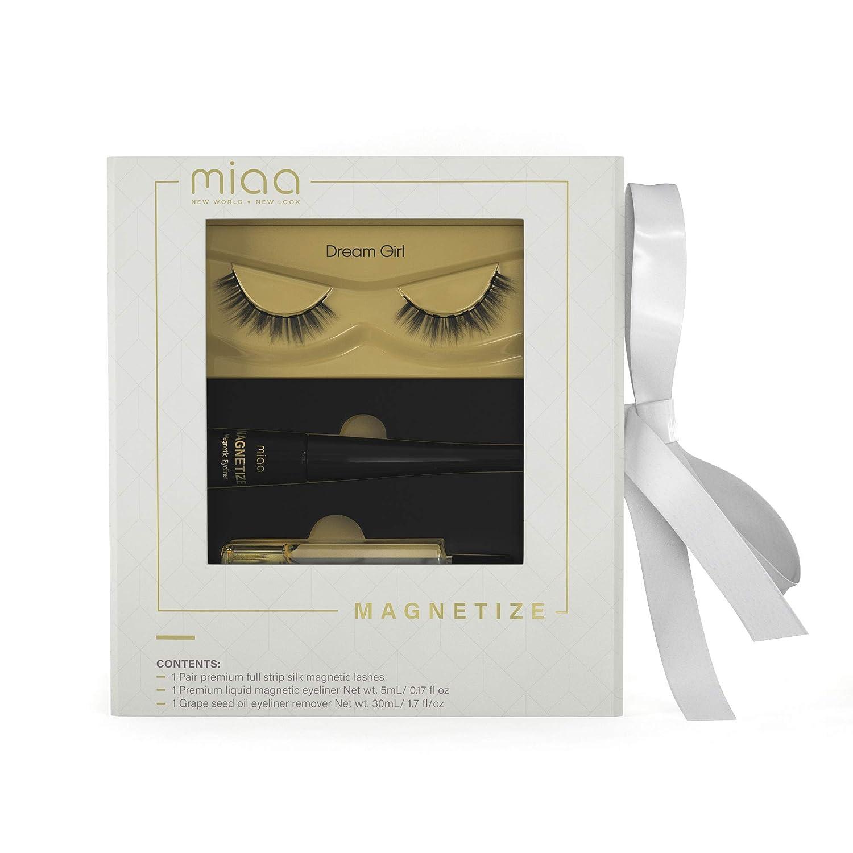 MIAA Beauty Magnetic False Eyelash Kit – Premium False Reusable Magnetic Full Lashes with Grapeseed Oil Remover – Glue-Free Magnetic False Eyelashes with Magnetic Eyeliner – Easy Application & Removal
