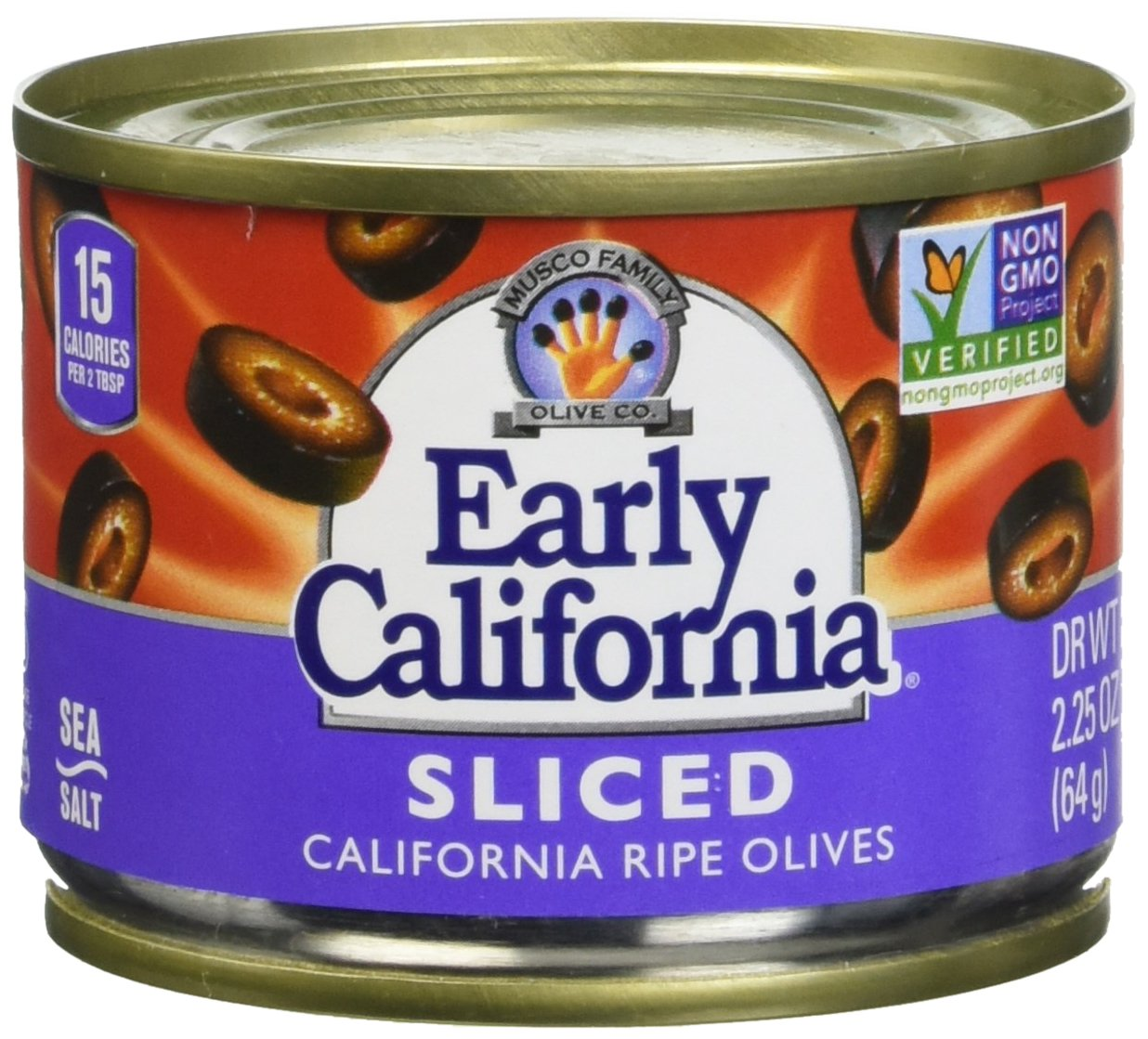 Early California Ripe Sliced Olives, 3.75 Pound