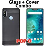Xiaomi Redmi 6 Pro Back Cover Case & Tempered Glass Combo by Popio®
