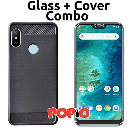 27c900ef557 POPIO Back Cover Case and Tempered Glass Combo for  Amazon.in  Electronics