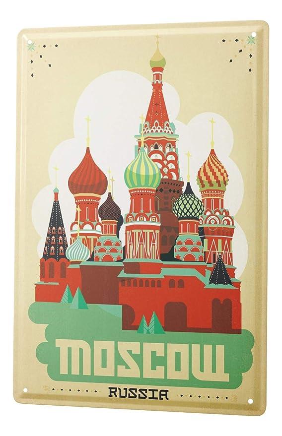 LEotiE SINCE 2004 Cartel Letrero de Chapa Deco Ciudad Moscú Rusia