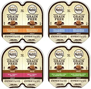 product image for Nutro Perfect Portions Grain Free Soft Loaf Cat Food 4 Flavor 8 Can Variety Bundle: (2) Chicken & Shrimp, (2) Salmon & Chicken, (2) Turkey, and (2) Chicken Liver & Shrimp, 2.6 Oz. Ea. (8 Cans Total)