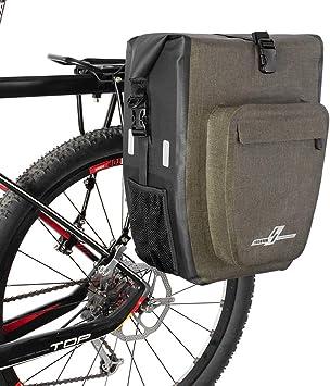 LYCAON Alforjas para Portaequipajes de Bicicleta Impermeable ...