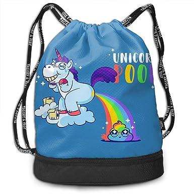Amazon.com: Unicorn Poop - Mochila con cordón, diseño de ...