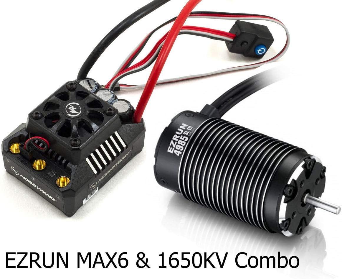 HobbyWing MAX6-V3 ESC EZRUN-SL 4985 1650KV //5687SL 1100KV Sensorless Motor