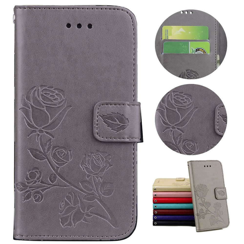 -Braun Sycode H/ülle f/ür iPhone 6S Plus,Case f/ür iPhone 6 Plus,Schutzh/ülle f/ür iPhone 6S Plus,Rose Blume Muster Lederh/ülle H/ülle f/ür iPhone 6S Plus//6 Plus 5.5 Zoll