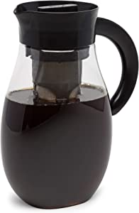 Primula Flavor Airtight Cold Brew Coffee or Iced Tea Maker Shatterproof Durable Plastic Construction, Leak-Proof, 2.7 Quart, Black