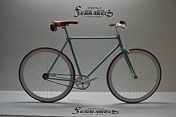 Bicicleta Fixie: Bicicleta de 1 velocidad, piñón fijo, color ...