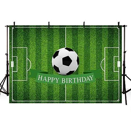 EdCott 7x5ft Tema fútbol Fondo césped Verde Feliz cumpleaños ...