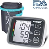 Warmlife Automatic Digital Upper Arm Blood Pressure Monitor with Large Cuff Electronic Blood Pressure Machines for Home Use (Black)