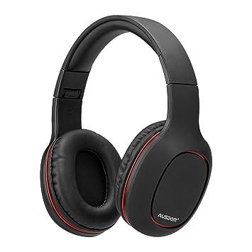 Ausdom Auriculares Bluetooth, Auriculares inalámbricos sobre la oreja, Sonido estéreo, Auriculares plegables Micrófono incorporado, Soporte de tarjeta TF, ...