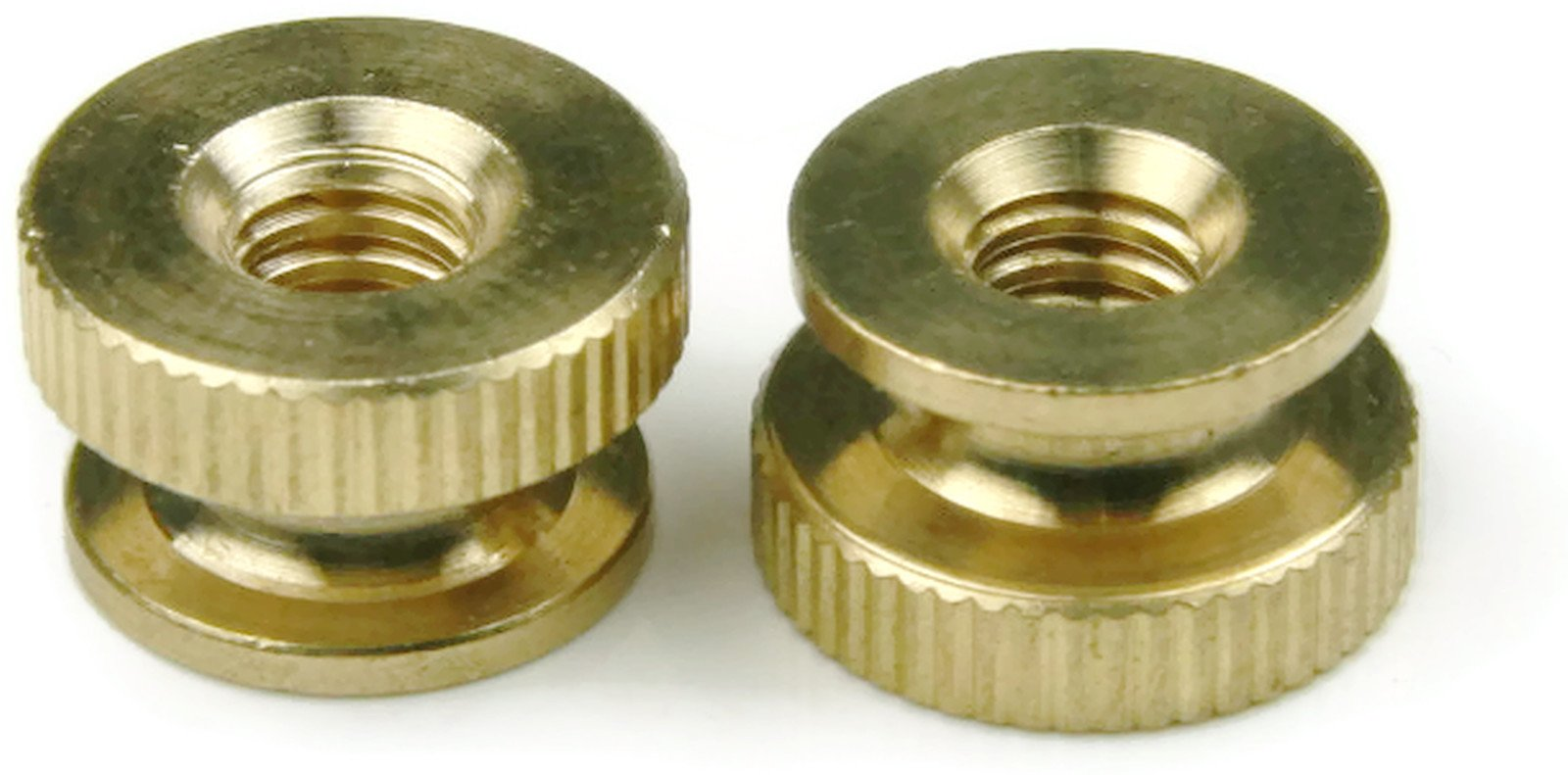 Knurled Thumb Nut Brass - 5/16-18 (11/16 Dia x 13/32 Thick) Qty-25 by RAW PRODUCTS CORP