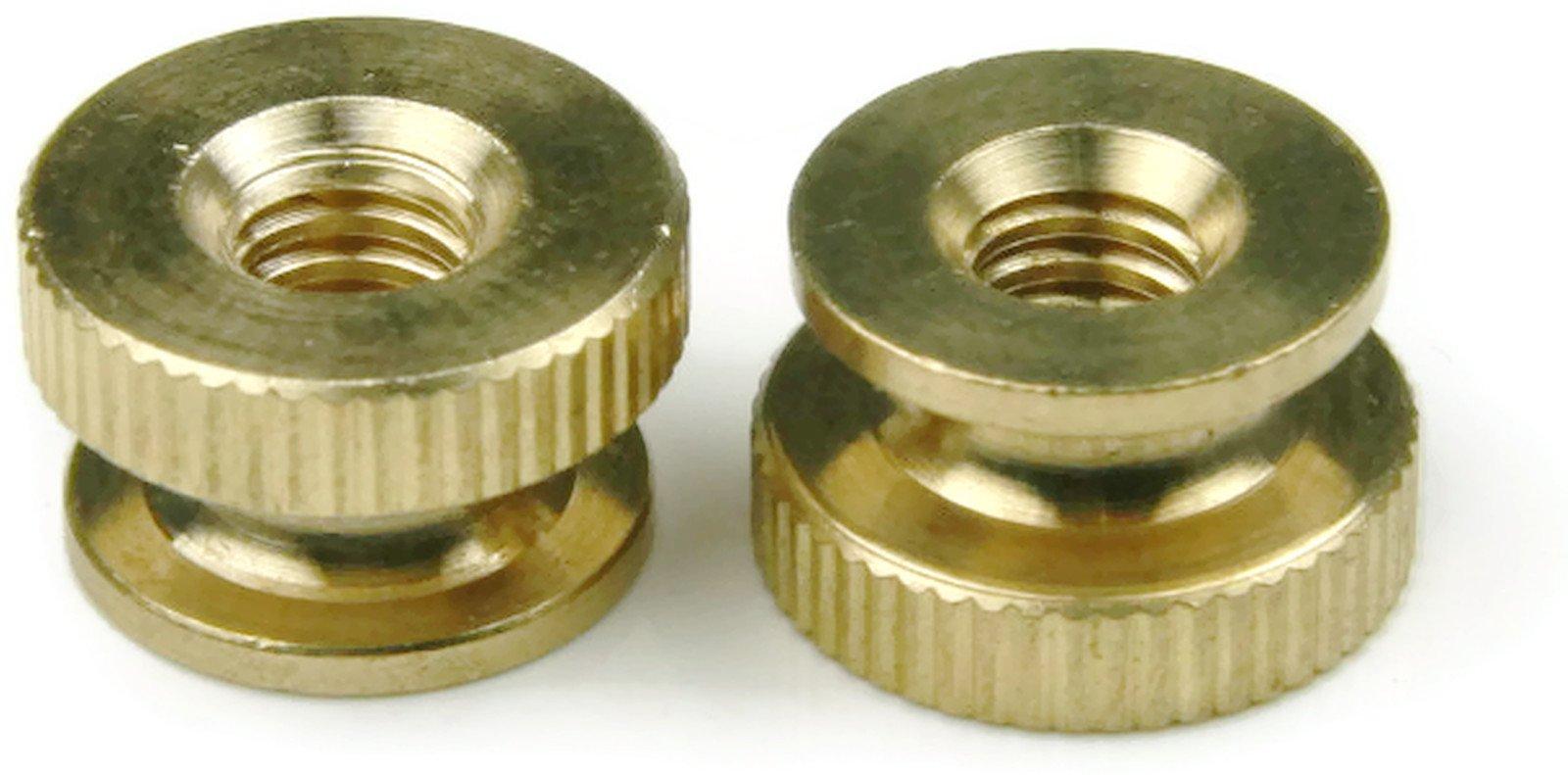Knurled Thumb Nut Brass - 8/32 (7/16 Dia x 5/16 Thick) Qty-100
