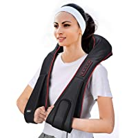 Shiatsu Neck and Shoulder Massager Electric with Heat Function, 【Lifetime Warranty】 Vibration Full Body Massage Machine for Muscle Tension Pain Relief Best Gift for Mom/Dad Waist Design