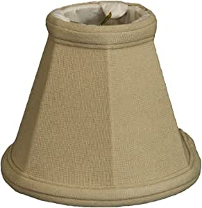 Royal Designs CS-103LNBG Clip On Empire Chandelier Lamp Shade, Linen Beige