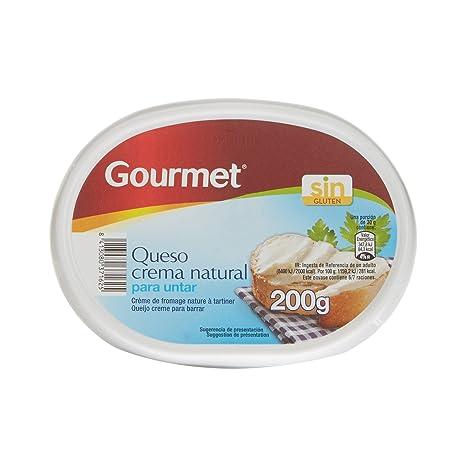 Gourmet - Queso Crema Natural para Untar- 200 g: Amazon.es: Alimentación y bebidas