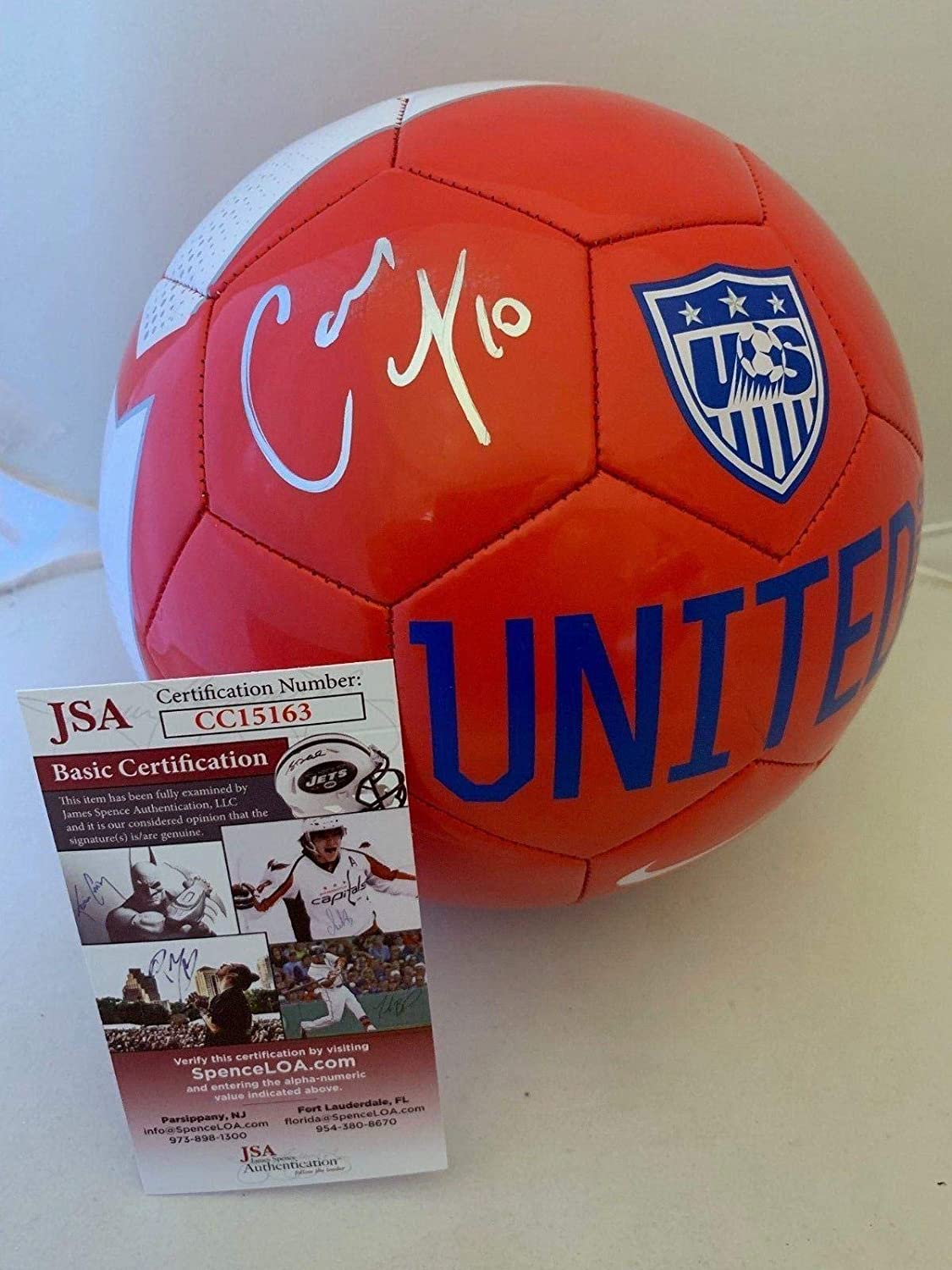 Carli Lloyd signed Size 5 Nike Team USA Soccer Ball Team USA Womens - JSA  Certified - Autographed Soccer Balls at Amazon s Sports Collectibles Store e397b9986