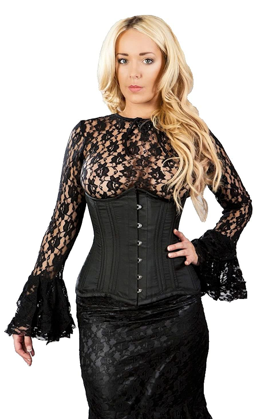 Steampunk Vests and Wraps Burleska Womens Gypsy Peasant Underbust Corset Top  AT vintagedancer.com