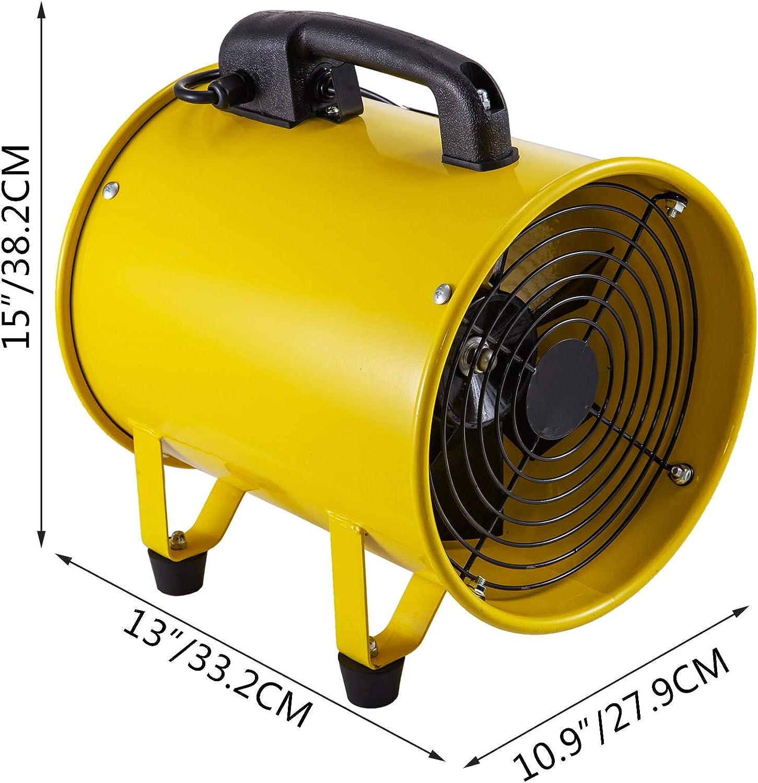 Mophorn Ventilador de Ventilaci/ón Port/átil 10 Pulgadas con Manguera de 5 Metros Ventilador Utilitario 1750-2580M/³//H Este Ventilador Es Perfecto para /Áreas Como F/ábricas Lofts y S/ótanos