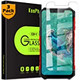 [3-Pack] KOSPH for Ulefone (Armor 6 /Armor 6S /Armor 6E) Tempered Glass Screen Protector, 9H Anti-Scratch, 2.5D Arc Edge, Oleophobic Coated, Sensitive Touch, High Clarity (Flat Area Coverage, Clear)