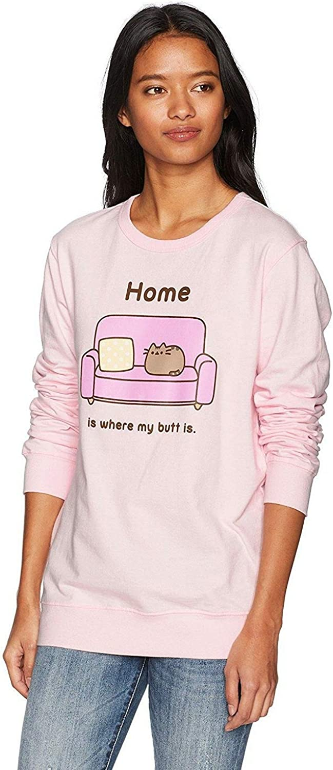 Pusheen Women's Home Is Where My Butt Is Pink Pull on Sweatshirt