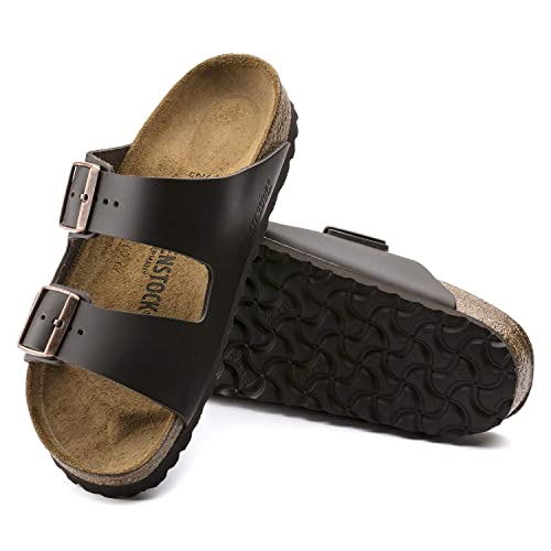 c790531aaa3 Amazon.com | Arizona 'Narrow Fit' Women's Cork-Footbed Sandals, Dark ...