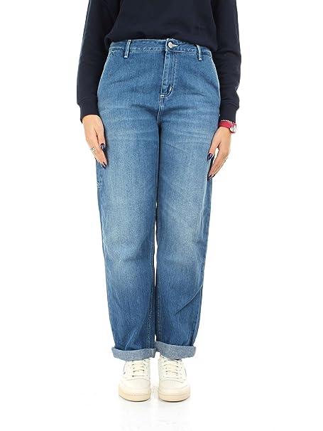 Carhartt I023035 Pantalones Vaqueros Mujer Azul 30: Amazon ...