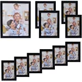 Giftgarden Multi Wooden Picture Frame for Multiple Sizes 11pcs, one 8x10, two 5x7, two 4x6, six 3.5x5 PVC lens