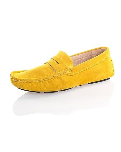bas prix 1e4ba 02592 Reservoir Shoes - Mocassin Effet Daim Jaune Homme - Couleur ...