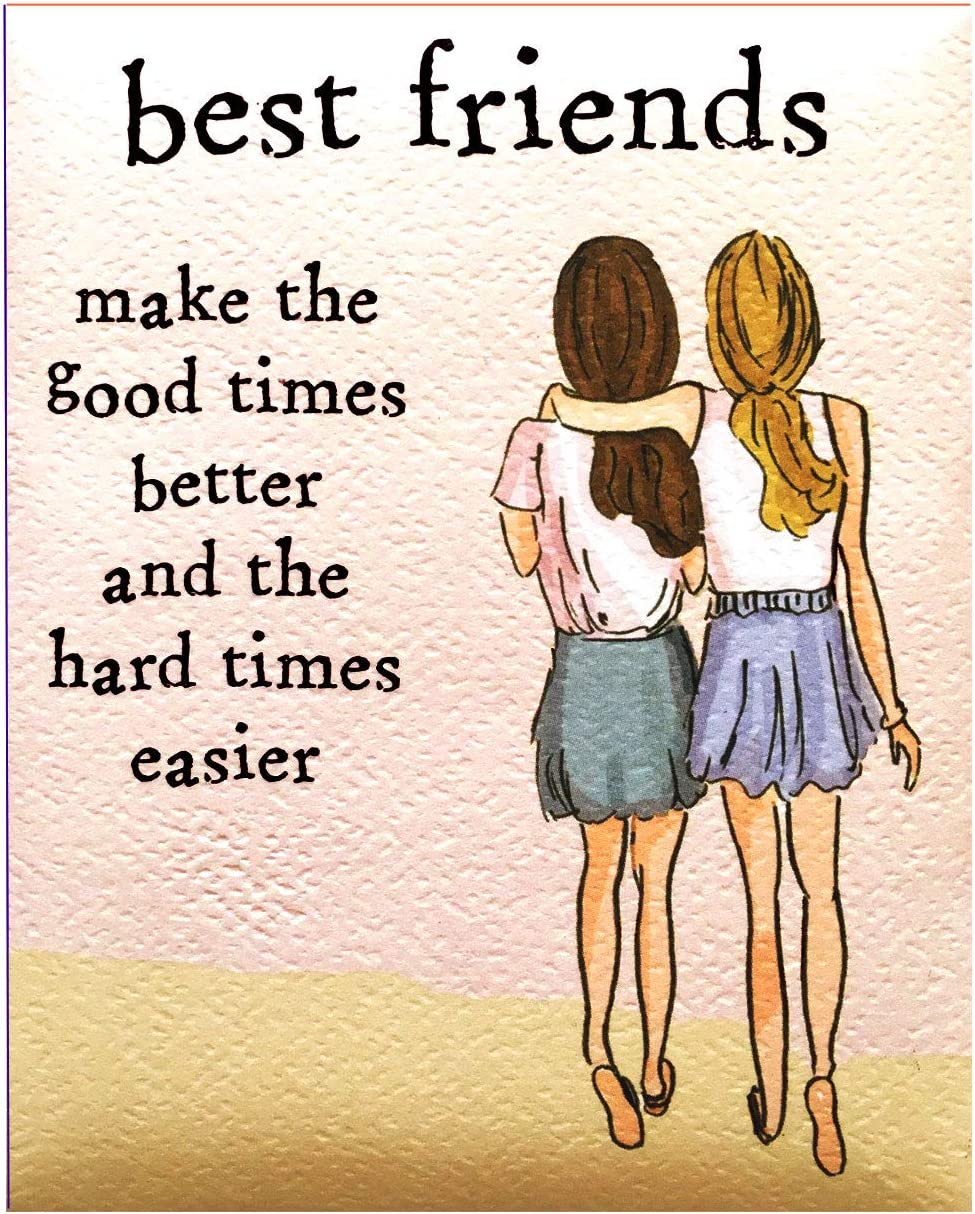 "Blue Mountain Arts Refrigerator Magnet ""Best Friends"" 4.0 x 3.25 in. Perfect Birthday, Christmas, Women's Friendship, Missing You, or ""Just Because"" Gift for a Great Girlfriend, by Heather Stillufsen"