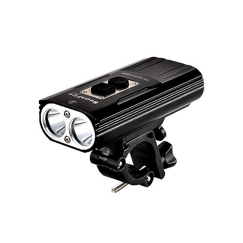 Soon Fire fd38s LED para bicicleta, luz muy clara impermeable vorderlicht bicicleta batería USB, 2 * CREE XM-L2 LED con un alcance efectivo de 167 M, fácil construir y de Construir frente