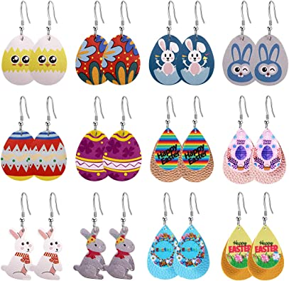 Girly Fashion and Food Faux Leather Teardrop Earrings
