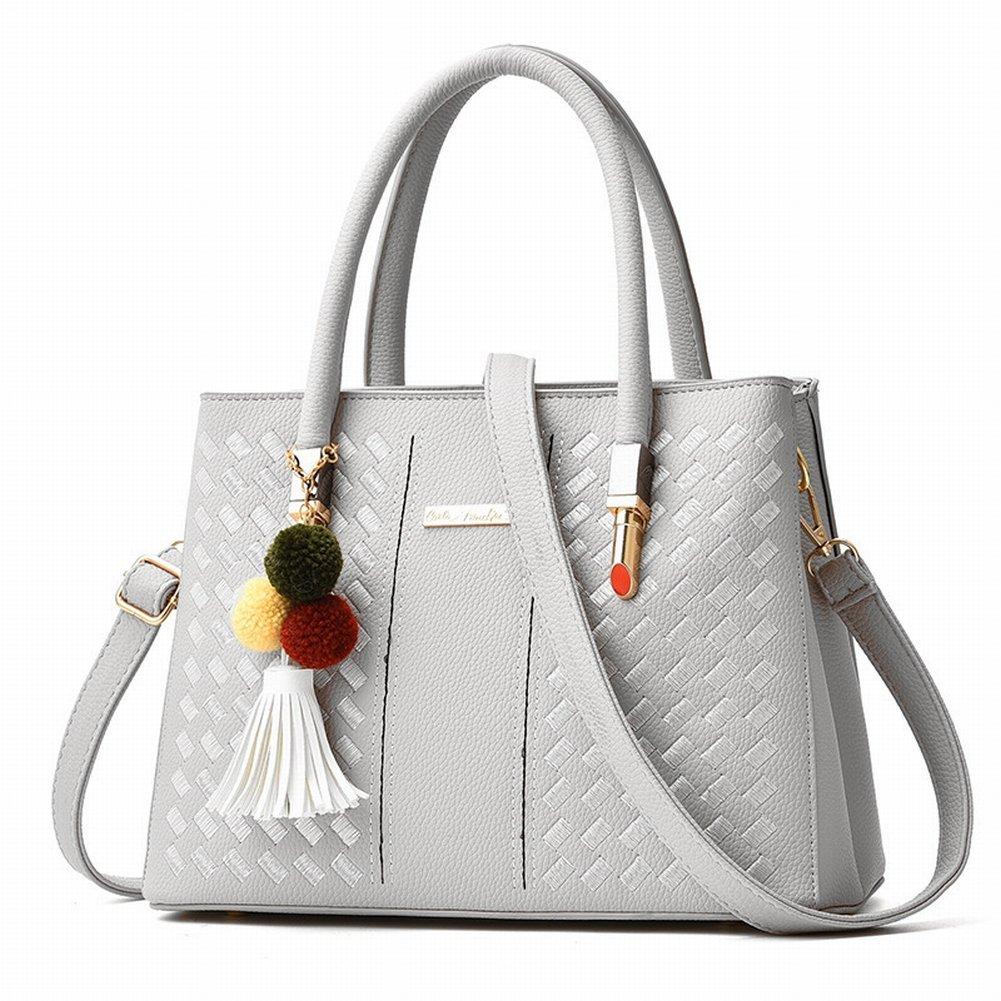 Haarballen Handtasche Weibliche Einfache und Modische Handtasche Diagonal Paket , grau