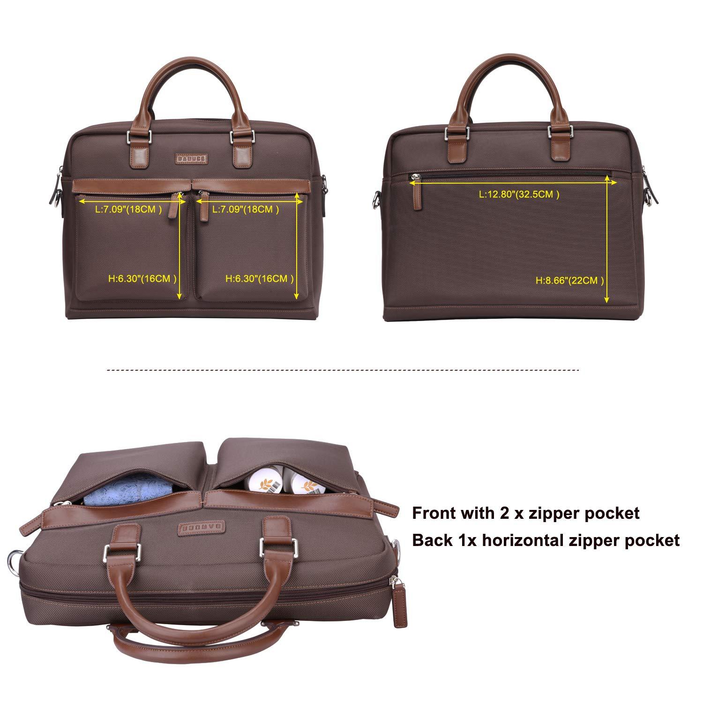 59489ecf76 Amazon.com  Banuce Large Capacity Waterproof Nylon Faux Leather 15.6 inch  Laptop Messenger Bag for Men Business Briefcase Tote Tablet Computer Bag  Shoulder ...