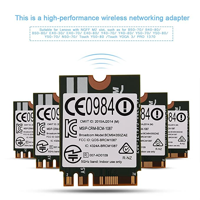Amazon.com: BCM94350ZAE 2.4G+ 5G Tarjeta de red inalámbrica ...