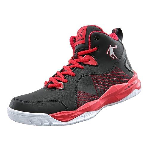 daf4001cc17a Qiaodan Men  Basketball Shoes XM3550107 Black Red  Amazon.ca  Shoes ...