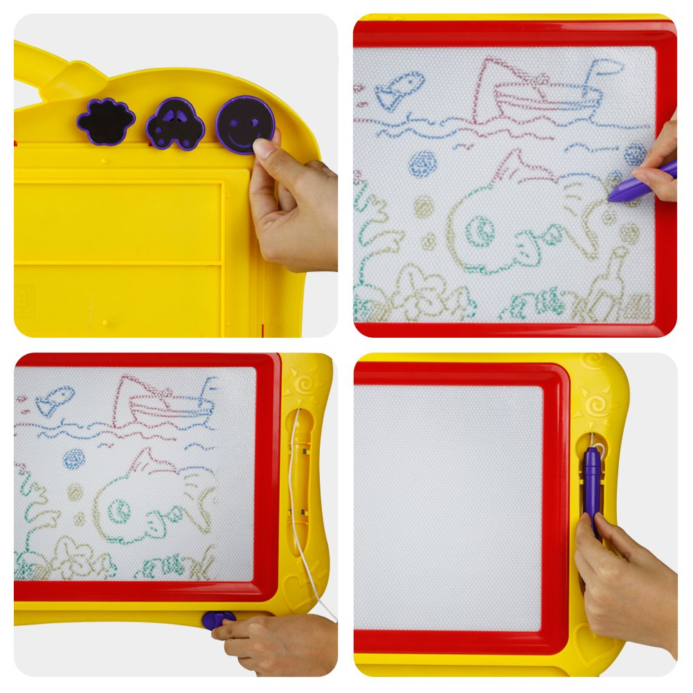 3 A/ños+ Pizarra Magn/ética Infantil Pizarra Magica Colorido Tabla de Dibujo Magn/ética Juguetes Educativos Juego Creativos para Ni/ños