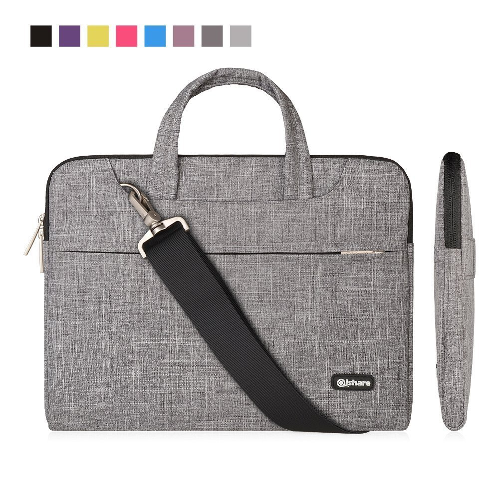 Qishare multifuncional portátil de luz delgada portátil hombro bolsa maletín portátil de