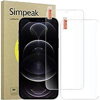 Simpeak 2-Packs Cristal Templado Compatible para Apple iPhone 12 &iPhone 12 Pro [6,1 Pulgadas], Protector de Pantalla…