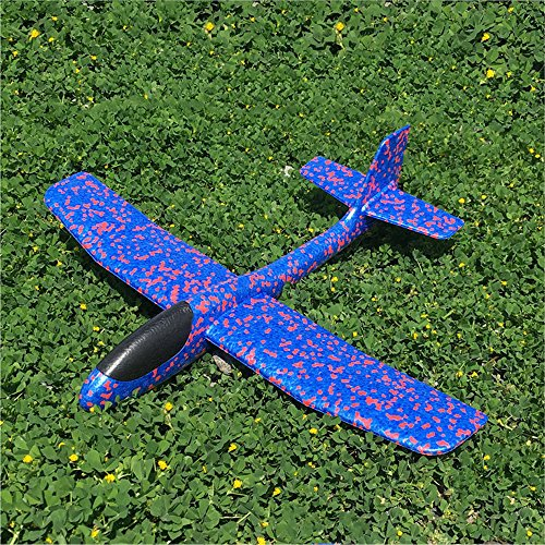 ONEGenug 2pcs Airplane Outdoor Sports Toy, Manual throwing, Model Foam Glider Outdoor Fun, Blue & Orange Color, Upgrade Large Size by ONEGenug (Image #3)