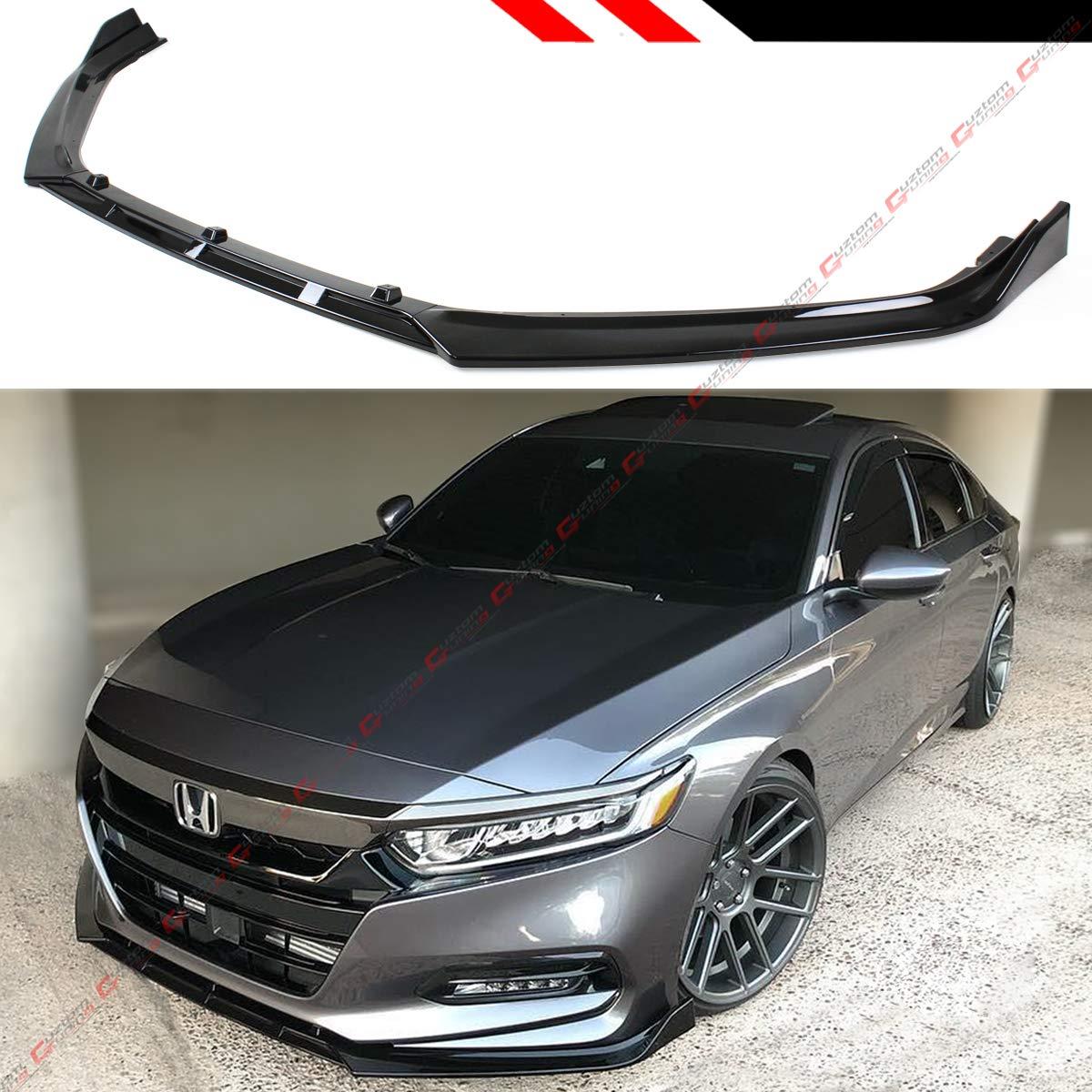 2019 Honda Accord >> Fits For 2018 2019 Honda Accord 10th Gen Sport Jdm 3 Piecesdesign Front Bumper Lip Splitter Gloss Black
