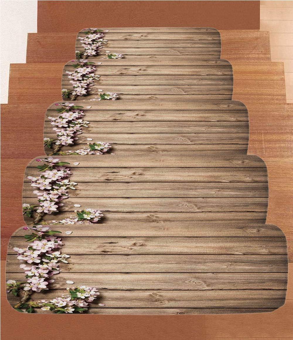 SoSung - Juego de 5 alfombrillas de forro polar para escalera, diseño geométrico de cuadros abstractos, diseño de mosaico a rayas psicodélico, multicolor: Amazon.es: Juguetes y juegos