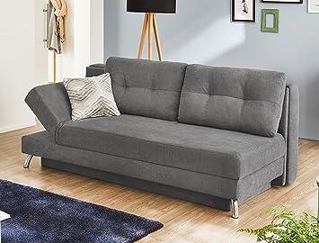 Funktionssofa Magnus 202x98 Cm Microfaser Hellgrau Schlafsofa Couch Sofa Bettkasten Wohnzimmer